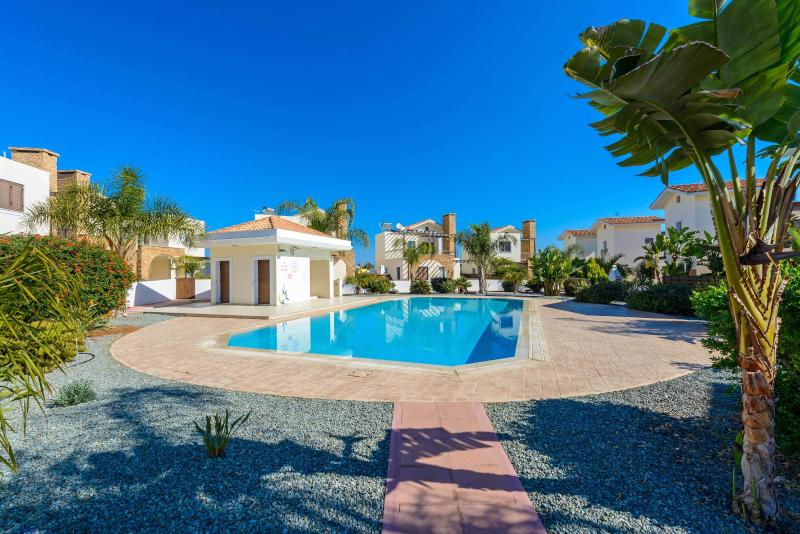 Large swimming pool with direct access from villa. Ideal for a serious swim.