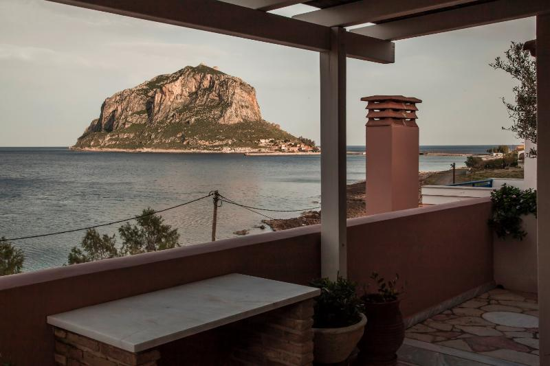 View of Monemvasia Rock from the balcony