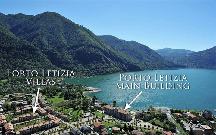 The fantastic lake front location of the Porto Letizia holiday village