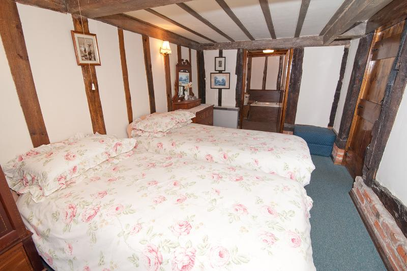 The olde Laundry Bedroom with en-suite walk in shower, bath,washbasin and wc