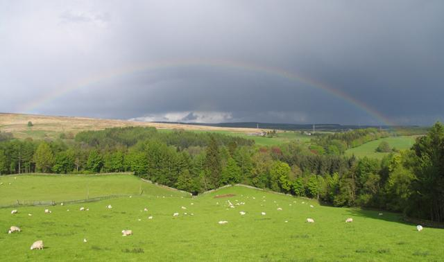 Rainbow View from Middleholms garden.