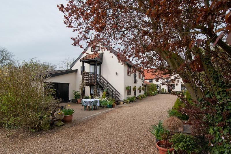 The Laundry and Hayloft share the patio outside the cottages, also over 2 acres of garden,woodland.