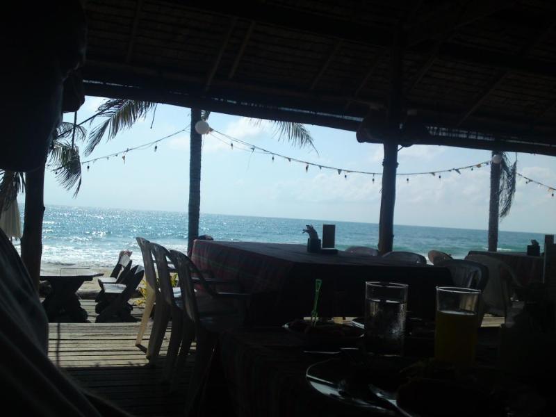 Another quiet beach restaurant.