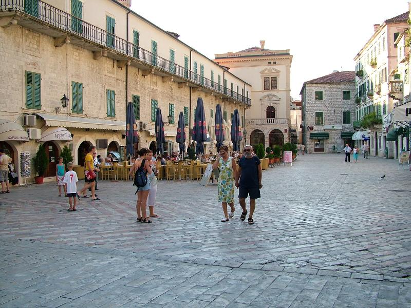 Main square in Kotor Old Town - great to just sit, relax & people watch!