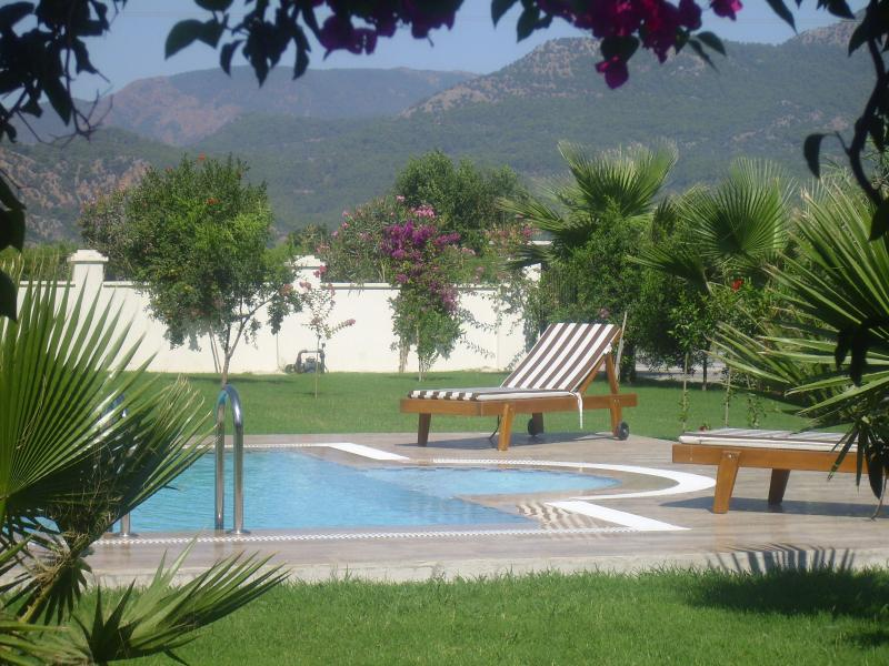 View of private pool from the terrace