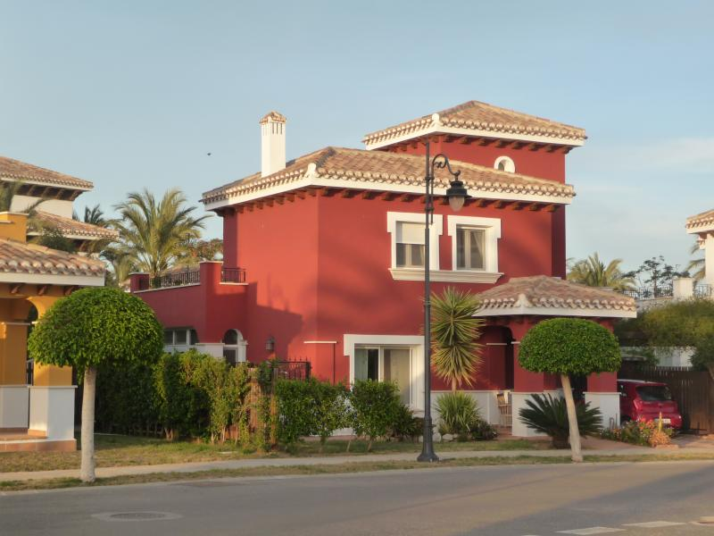 Villa front from plaza