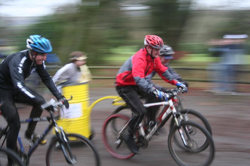 Mountain Bike Chariot Race