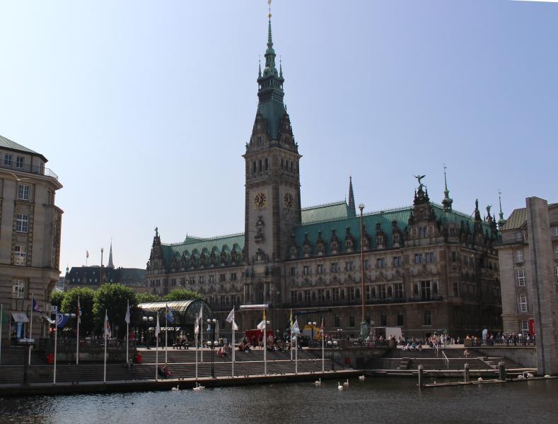 Hamburg, das Rathaus