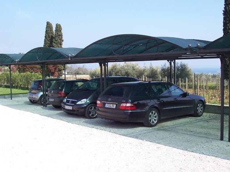 Gated car Park inside the property