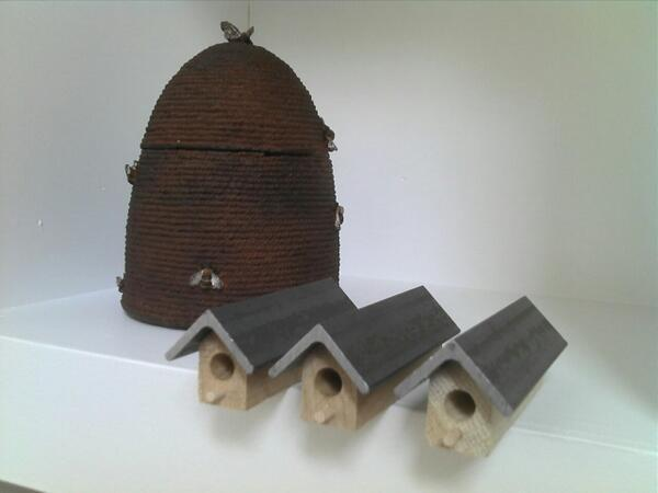 Bee houses & hive - bees, the symbol of Manchester!