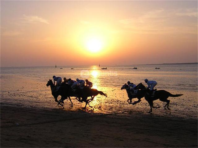 carreras en la playa de sanlucar