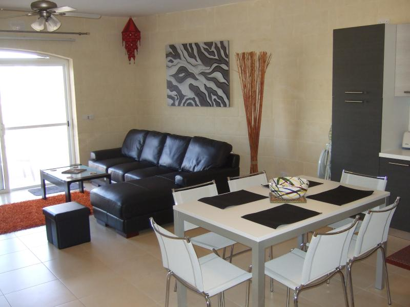 Spacious Living Area combined with Kitchen / dining .