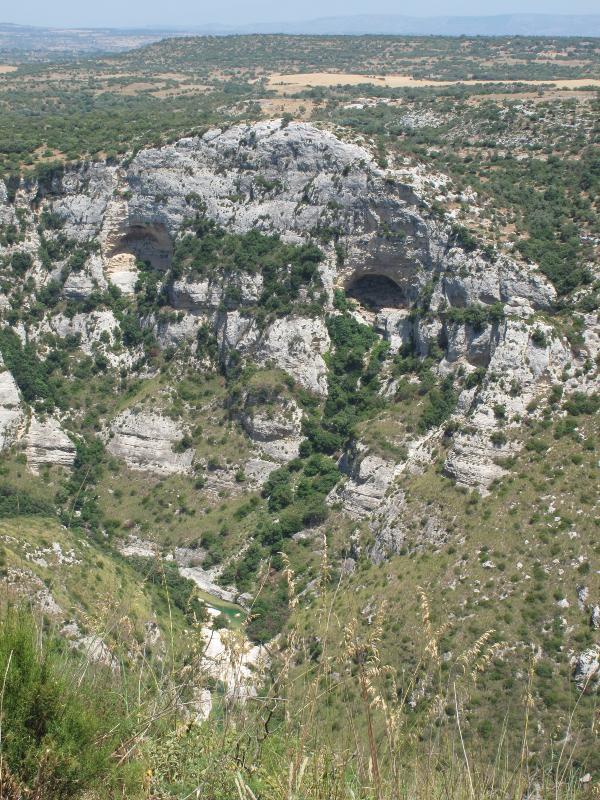 Cava Grande del Cassibile - A deep limestone canyon.