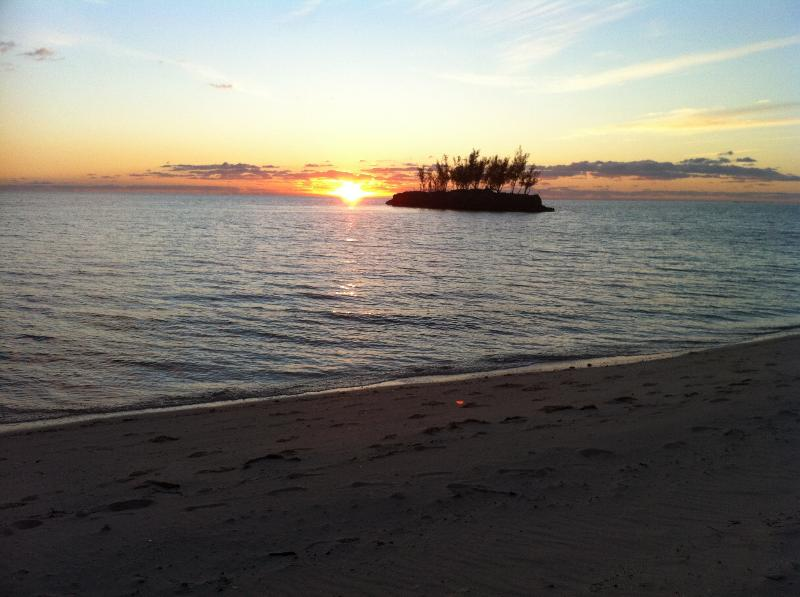 Sunset by Gaulding Cay, looking from your patio