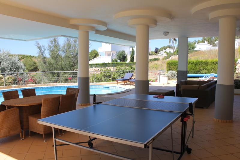 Table Tennis Outdoor Dining and comfortable seating area at pool area