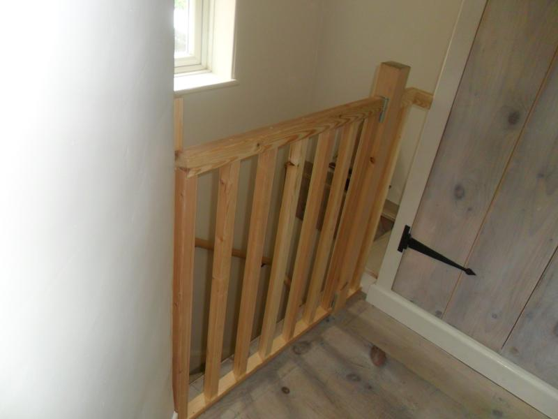 Top of stairs with safety gate