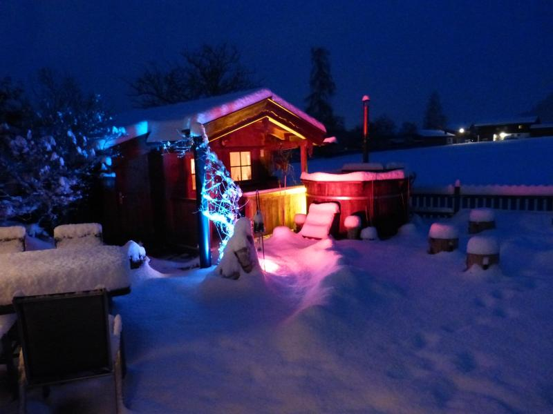 Sauna evening in the snow