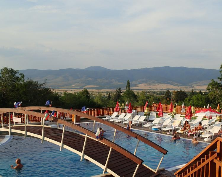 Thermal Baths at Saperavo Banya with plug pool.