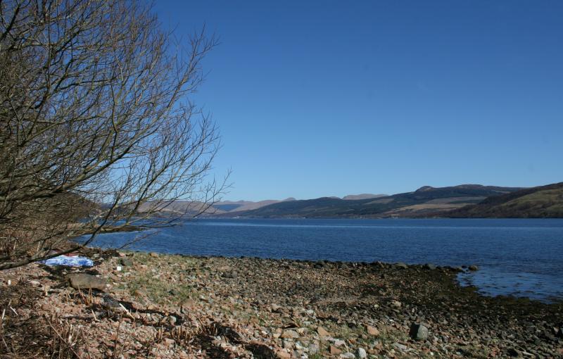 Shores of Loch Fyne opposite cottage
