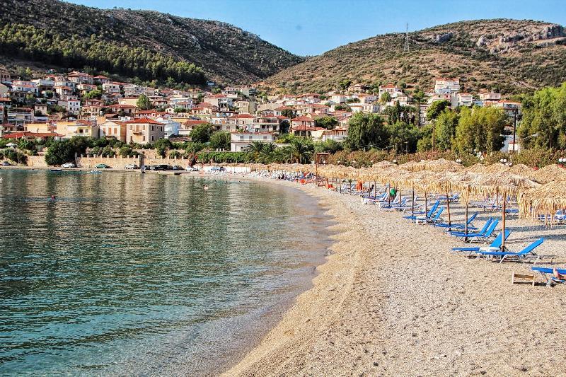 Blaue Flagge Strand in Kiveri Dorf nur 600 m entfernt von unserer Wohnung
