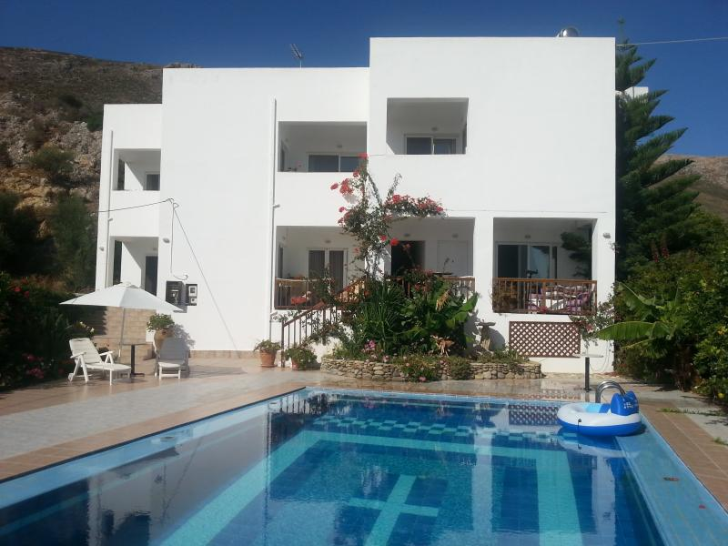 Ideal family or friends apartment. with sea  mountain views, private terrace and rear large balcony