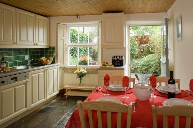 Prepare delicious meals in the well equipped kitchen and enjoy the welcoming warmth of the AGA stove