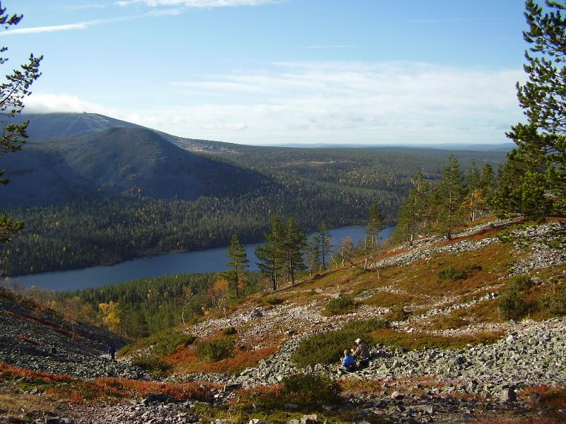 Trekking in Lappland, schöne Aussicht und die frische saubere Luft
