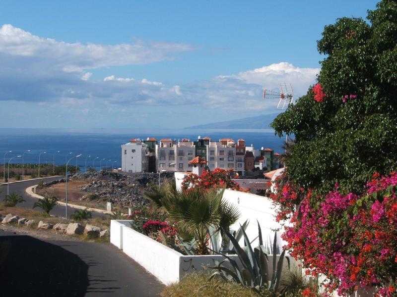 Vue sur la résidence Arco Iris Playa avec dans le fond l'île de la Gomera