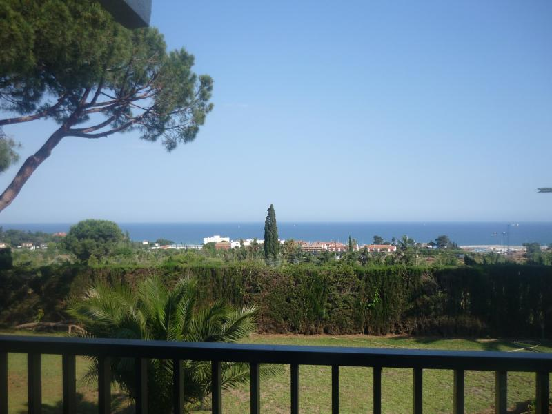 Panoramic view to the sea from one of the terrace