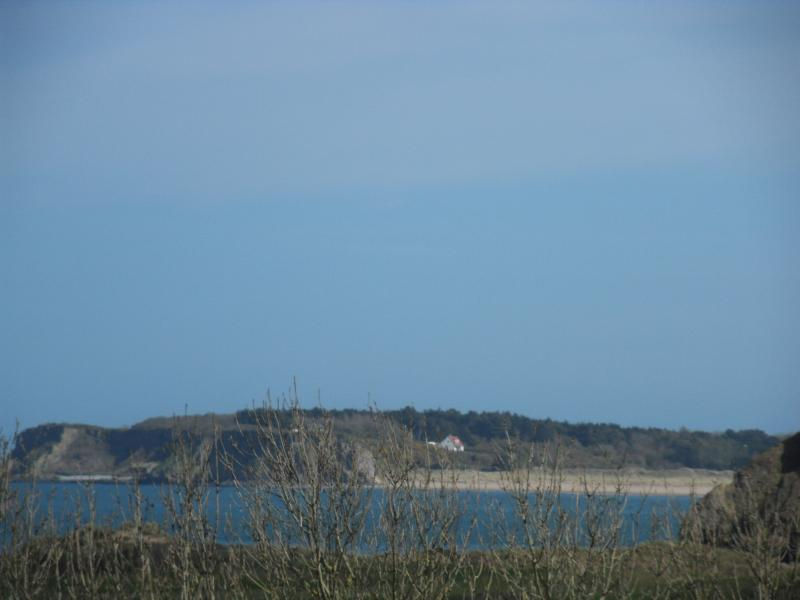 Sea view and Caldey Island from lounge window
