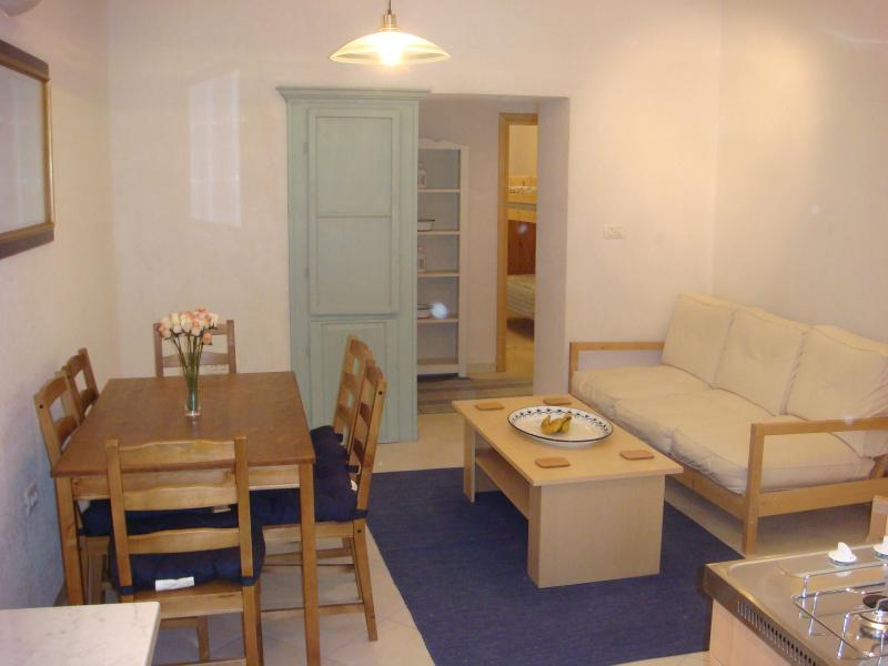 The living & dining area