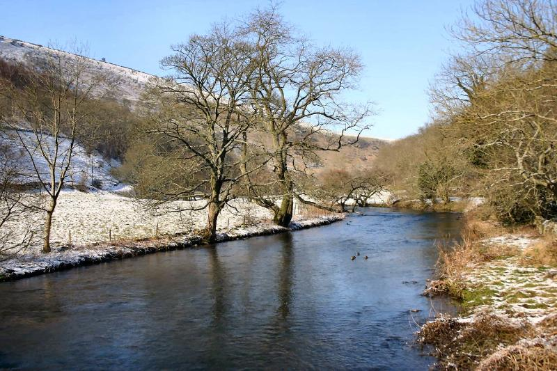 Winter offers other spectacular scenery. Here, the River Wye in Monsal Dale on a crisp November day.