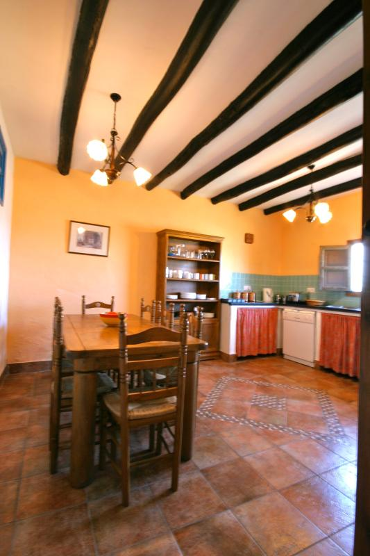 Enjoy meals together in the spacious farmhouse kitchen