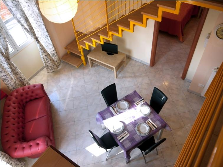 living room with kitchen-living-room with kitchenette