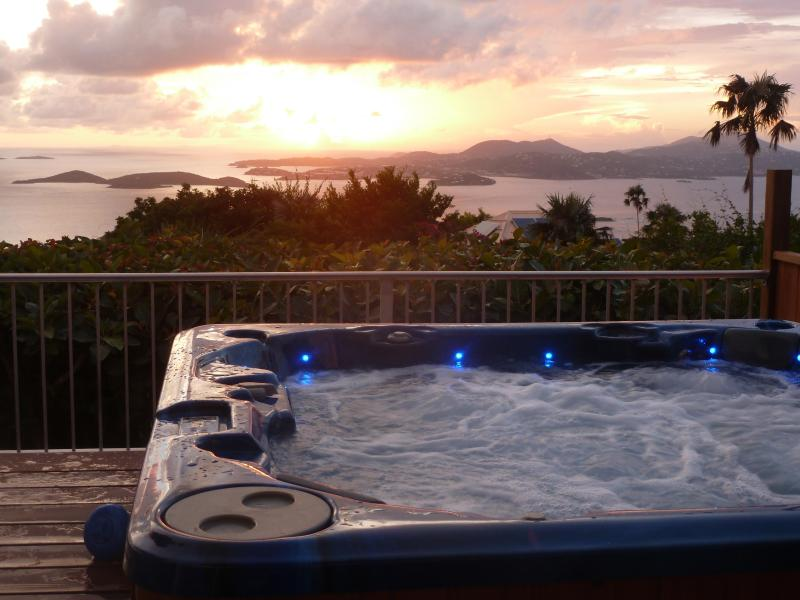 Plumeria: Great Ocean Views, Sunsets, Heated Pool, Billiard Porch, and Privacy, alquiler de vacaciones en Caneel Bay