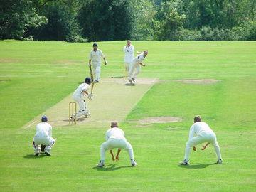 Cricket on the nearby village green