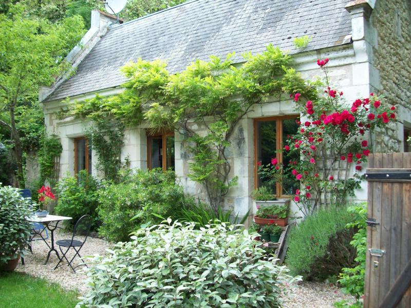 southern facade and garden