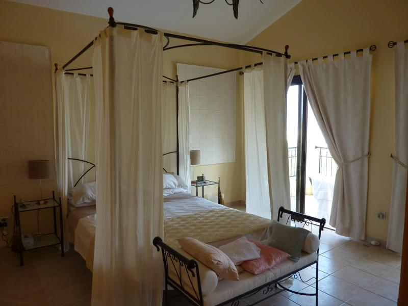 Fabulous four poster bed in the master bedroom