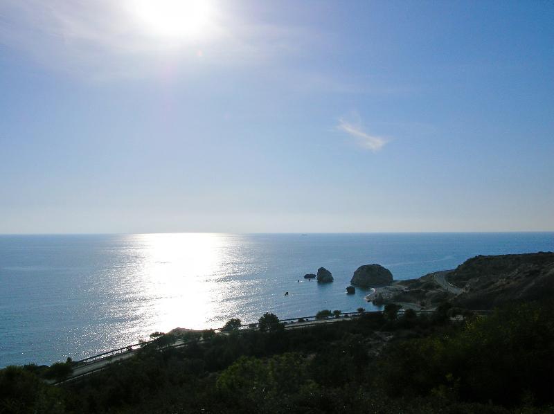 Aphrodite's rock - less than 5 minutes away
