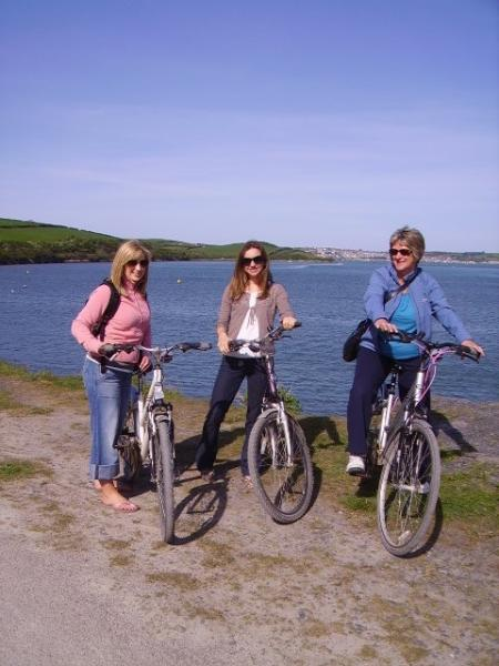 Hiring bicycles for the scenic Camel Trail comes highly recommended
