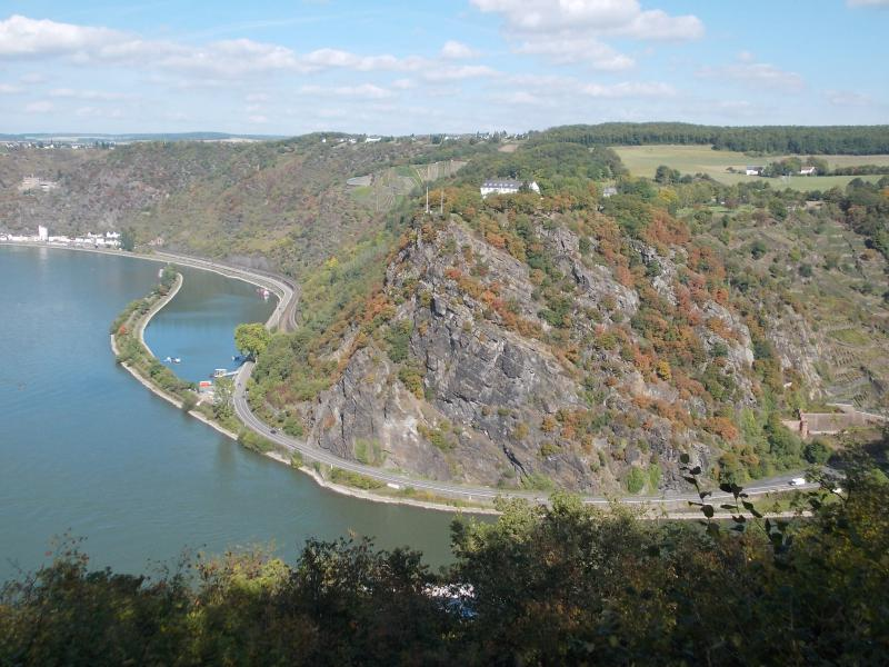 Famous Loreley Rock seen from view point Maria Ruh
