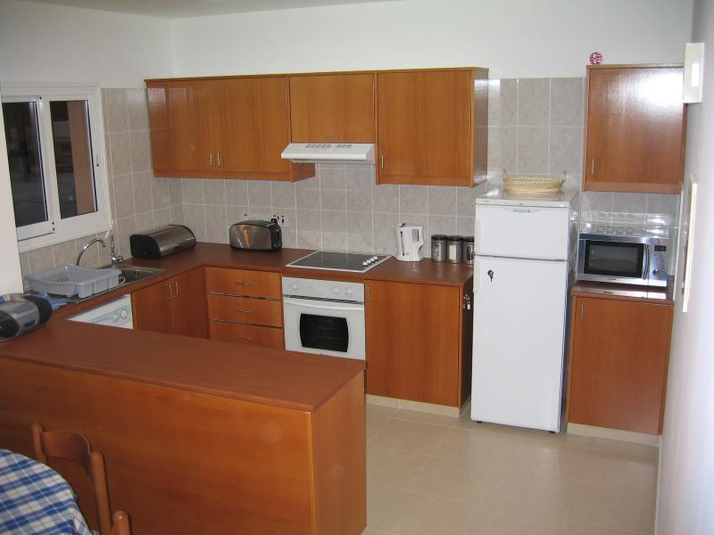 The Kitchen has everyting you could need, cooker, Microwave, Fridge, Freezer, washing M/c