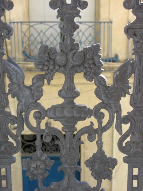 Balkon reling detail