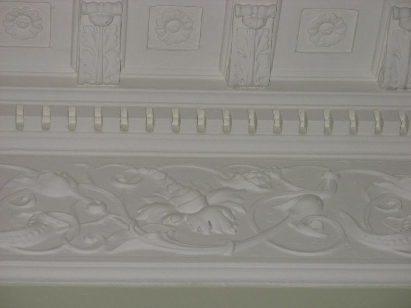 Plafond pleisterwerk detail