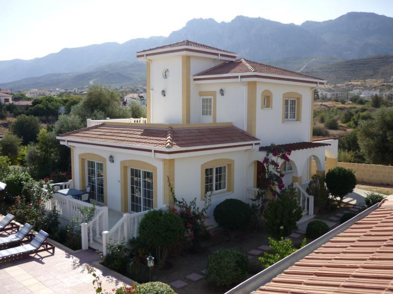 View of villa and its beautiful surroundings