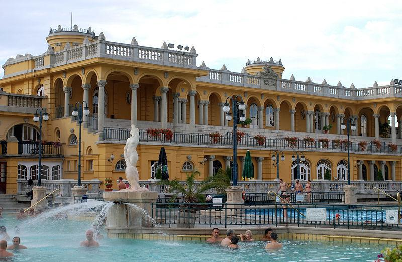 Szechenyi Termal Bath - in City Park, very popular in winter too