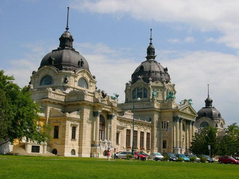 The entrance of Szechenyi Thermal Bath - in City Park