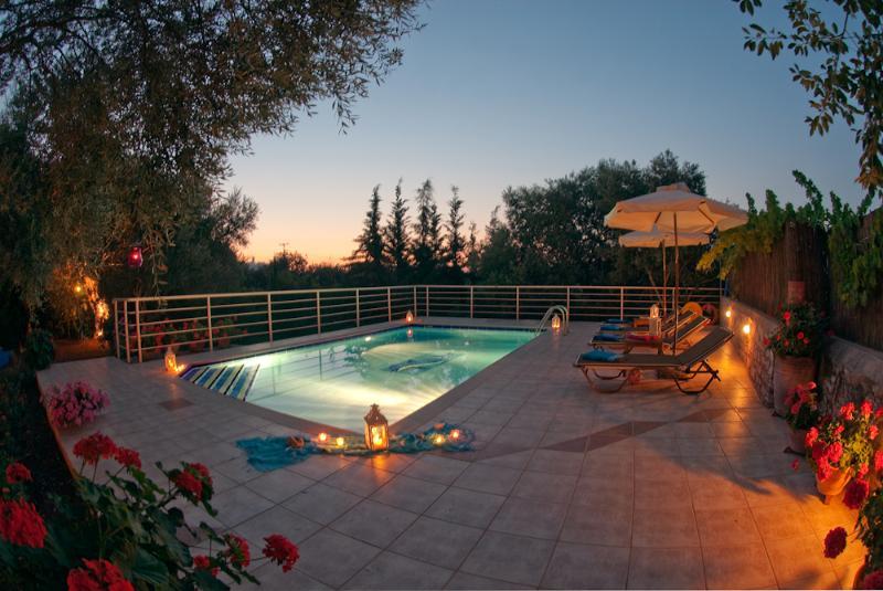 Il tramonto da Villa Anastasia