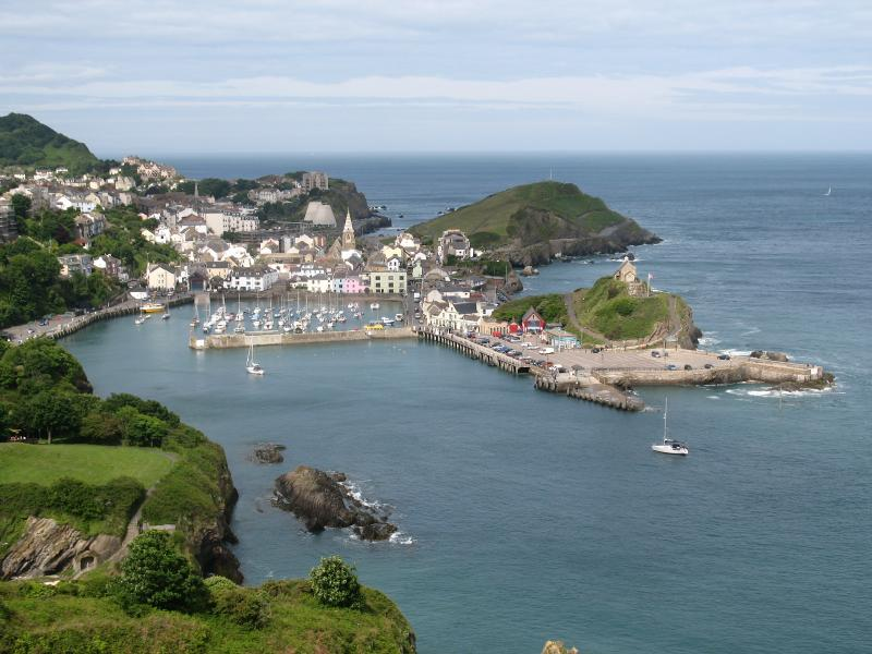 Ilfracombe harbour from Hillsborough.