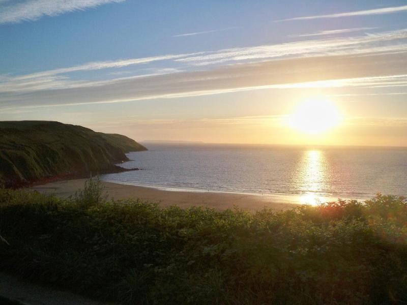 A beautiful picture of sunset at Putsborough